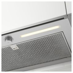 UNDERVERK stainless steel, Built-in extractor hood, Width: cm. A powerful hood hidden in the cabinet ‒ you just choose a door you like to get a uniform look in the kitchen. A LED lighting strip gives even work lighting ‒ making cooking more comfortable. Kitchen Extractor, Extractor Hood, Flexible Pipe, Steel Detail, Cheap Houses, Energy Consumption, Range Hoods, Kitchen Cabinet Doors, Filter