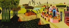 disney concepts & stuff Visual Development from Sleeping Beauty by Eyvind Earle Mary Blair Art, Disney Drawings, Eyvind Earle, Art Background, Animation Art, Painting, Animation Background, Sleeping Beauty Art, Beautiful Art