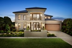 Two Story House Facades For Homes Designs  ~ Great pin! For Oahu architectural design visit http://ownerbuiltdesign.com