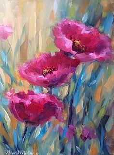 """Nancy Medine orijinal sanat eserleri """"Çiçek Artist Nancy Medine Gece Siyah Lale Resminin Kraliçesi"""""""