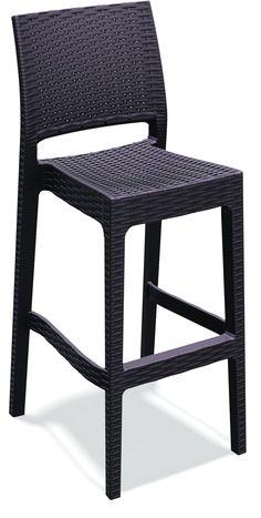 Jamaica Wickerlook Resin Bar Chair White Bar Chairs Resin And Bar