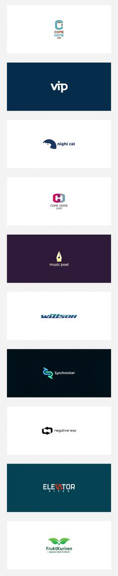negative space logo design collection
