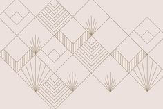 Our Zelda Art Deco Wallpaper Mural is a gorgeous rose gold geometric piece created by our innovative in-house design team, inspired by the concept of a contemporary design and Art Deco style mashup. Art Deco Artwork, Art Deco Wallpaper, Wallpaper Designs, Rose Gold Wallpaper, Geometric Wallpaper, Geometric Art, Art Deco Design, Wall Design, House Design