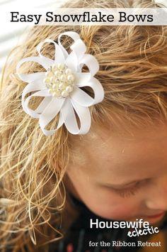 Easy Snowflake Bows - The Ribbon Retreat Blog