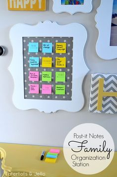 Create An Easy Family Command Center! (With The Post-it Brand Evernote Collection) -- Tatertots and Jello #DIY #organizing