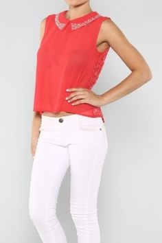 salediem.com boutique fashions for less.  Shipping FREE. Lace Back Top