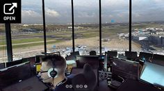 Step inside tower with our interactive 360 panorama - an opportunity to really see behind the scenes from the comfort of your own home. London Airports, Heathrow Airport, Step Inside, Atc, Own Home, Behind The Scenes, Aviation, Tower, Cool Stuff
