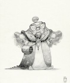 002 #skechoftheday #sketchtober #characterdesign #sketch #granny #old #character#bladmoran #art#tradtionalart