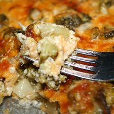 Awesome Broccoli-Cheese Casserole & I added Ritz Crackers on Top!