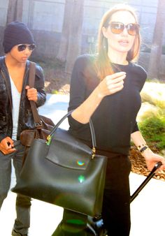 The Many Bags of Angelina Jolie - Louis Vuitton Capucines Bag