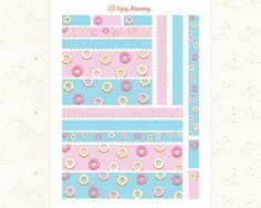 Donuts Bottom Washi Printable Planner Stickers Donut Bottom washi Top washi planner Sticker Donut stickers Erin Condren Washi stickers ECLP by EnjoyPlanning on Etsy