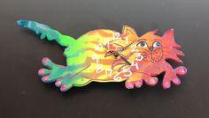 New to PondScumCeramics on Etsy: Clock Cat Clock Kid's Clock Children's Clock KITTY-CAT CLOCK Wall Clock (48.00 USD)
