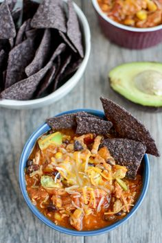 This Sweet Potato Chicken Chili can be made in the Instant Pot or slow cooker for an easy, healthy dinner. The leftovers make the perfect packable lunch.