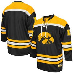Iowa Hawkeyes Colosseum Hockey Jersey - Black 5f892d1e5d5