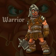Warrior (char for RPG/Roguelike Dragon's Dungeon) by Vadich.deviantart.com on @deviantART