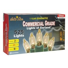 525ct Clear Incandescent Lights of Garland String Lights