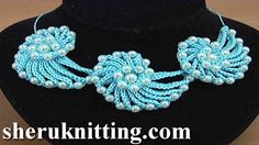 Learn How to Crochet Cord Necklace Demo Version Tutorial 144 - YouTube