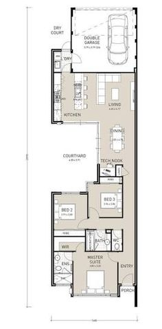 narrow two story house plans - Google Search | Plans | Pinterest ...