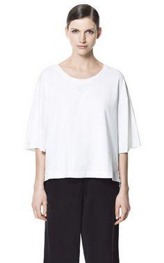 $29 THIN VELOUR T-SHIRT from Zara