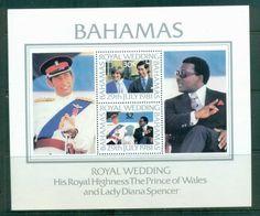 Bahamas 1981 Charles & Diana Royal Wedding MS MUH lot81932