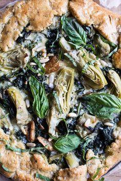 Spinach and Artichoke Galette via Half Baked Harvest