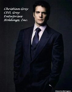 Henry Cavill as Christian Grey - He is my pick to play Christian