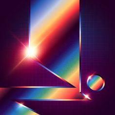 Signalnoise :: The Work of James White - Neo-Chrome Series New Retro Wave, Retro Waves, James White, 3d Cinema, 80s Design, 80s Aesthetic, Rainbow Aesthetic, Futuristic Art, Retro Art