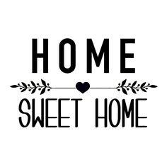 "Sticker ""Home Sweet Home"" - Affaires de Famille"