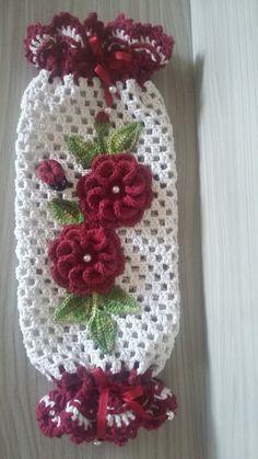 3 D Kitty Cat Crochet Towel Topper pattern by LinMarie Creations Crochet Towel, Crochet Diy, Crochet Motifs, Crochet Home Decor, Easy Crochet Patterns, Crochet Gifts, Knitting Projects, Crochet Projects, Plastic Bag Crochet
