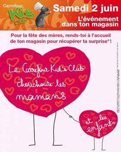 Carrefour kid's club cadeaux gratuits Fête des mères 2012