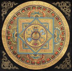 A Mandala of the Buddha with Auspicious Symbols