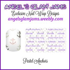 Pastel Anchors Jamberry Nail Wraps by Angel's Glam Jams  ORDER HERE: http://angelsglamjams.weebly.com/pastel-anchors.html  #anchors #pastel #beach #nautical #summer #jamberry #nailwraps