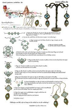 Gratis patronen | Elfenatelier Beaded Earrings Patterns, Bead Earrings, Beading Patterns, Earring Tutorial, Beading Tutorials, Loom Beading, Bead Weaving, Jewelry Making, Seed Beads
