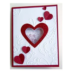 Open Heart by burbart - Cards and Paper Crafts at Splitcoaststampers Homemade Valentines Day Cards, Valentine Love Cards, Homemade Cards, Card Crafts, Paper Crafts, Birthday Greetings Quotes, Heartfelt Creations Cards, Pink Owl, Embossed Cards