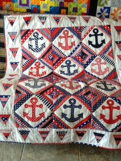 anchor quilts | Thread: Anchors Away Embroidered quilt