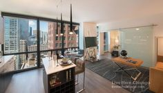 Gorgeous High Rise views from a full amenity building in The Loop! #liveherechicago #TheLoop #Luxury #homedecor