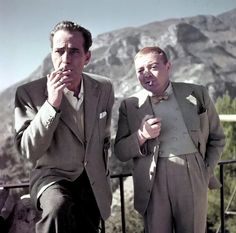 """Humphrey Bogart and Peter Lorre. He convinced Humphrey Bogart to marry Lauren Bacall, despite the age difference. He did so by saying, """"Five good years are better than none!""""."""