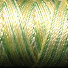 Valdani S 543 Lime Sherbet Luxury Pearl Silk thread- will be used in my upcoming (yet-to-be named) Spring 2015 tatting collection.