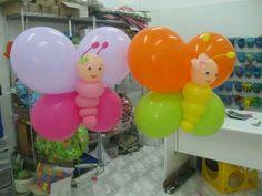 Color Butterflies baloons #Kids #party #decoration +++ Mariposas de globos de colores decoracion de fiesta infantil niños