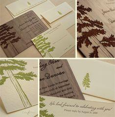 Pine tree invitations