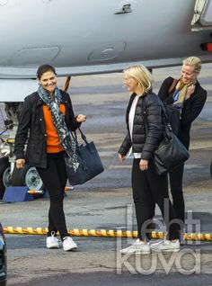 Crown Princess Victoria, Prince Daniel and Princess Estelle arrived at the airport of Kalmar