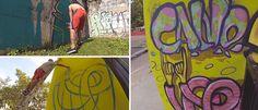 Para abrir este 2014 en el ámbito de Graffiti & Street Art  compartimos este videolcip de El Calvo realizando par de intervenciones graficas en la ciudad de Maracay  y en su nativa Los Teques.  Fue grabado con la versátil GoPRO, y editado por El Calvo quien acompaño este clip con  musiquita de DevOner con el track Sangrigorda de su EP de instrumentales La Cosa Nuestra.  http://ow.ly/sUtHG