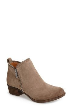 Lucky Brand 'Bartalino' Stud Embossed Leather Bootie (Women) available at #Nordstrom