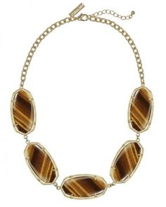Valencia Statement Necklace in Tiger's eye from Kendra Scott Jewelry Jewelry Shop, Jewelry Accessories, Jewelry Design, Women Jewelry, Jewelry Ideas, Jewellery, Tiger Eye Jewelry, Kendra Scott Necklace, Family Jewels