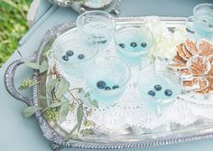 blue raspberry lemonade punch with blueberries » Ever After Vintage Weddings and Vintage Rentals Tampa