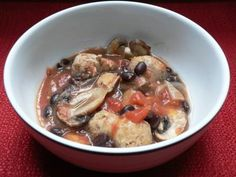 Low Fat Sausage and Mushroom Stew  -  How to Make  Low fat Sausage and Mushroom Stew