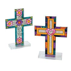 Cross Sun Catcher with Stand - OrientalTrading.com - 12 pc. - $9.50 Day 2