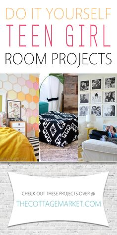 DIY Teen Girl Room Projects – The Cottage Market Teen Girl Bedrooms summary detail 4593230700 Georgeous inspirations to plan a warm bedroom. Teenage Girl Bedroom Designs, Bedroom Decor For Teen Girls, Teenage Girl Bedrooms, Teen Room Decor, Diy For Girls, Diy For Teens, Bedroom Ideas, Teen Bedroom, Crafts For Teen Girls Room