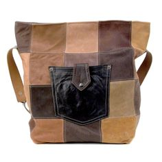 Leather Upcycled Tote Bag