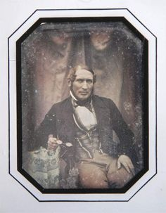 Swedish daguerreotype from 1847 by J W Bergström. Manufacturer Anders Peter Olofsson.   Åke Hultman collection.